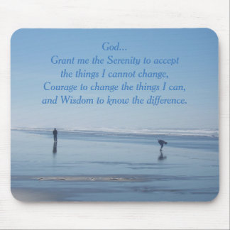 Serenity Prayer Ocean Beach Mouse Mat