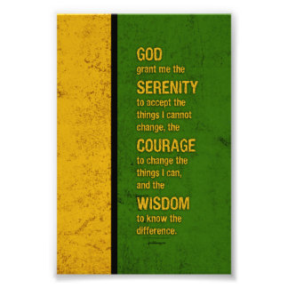 Serenity Prayer: Patriotic Jamaica, Strength/Recov Art Photo