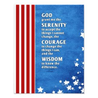 Serenity Prayer: Patriotic USA, Strength/Recovery Photo