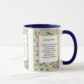 Serenity Prayer Peacock Design Motivational Mug
