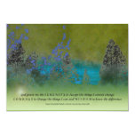 Serenity Prayer Petals and Trees 13 Cm X 18 Cm Invitation Card