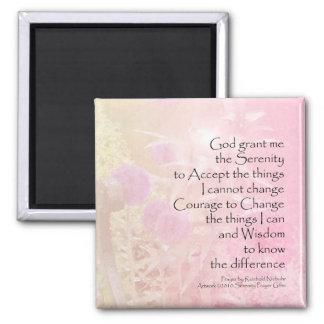 Serenity Prayer Pink Allium Fridge Magnets