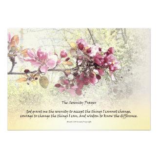 Serenity Prayer Pink Blossoms Invitations