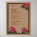 Serenity Prayer: Pink Roses: Original Art