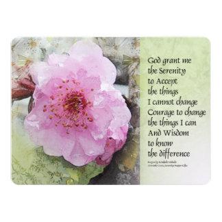 Serenity Prayer Plum Blossom 17 Cm X 22 Cm Invitation Card