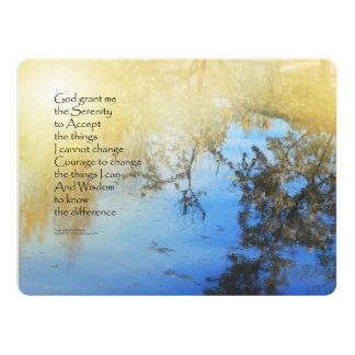 Serenity Prayer Pond Reflections 6.5x8.75 Paper Invitation Card