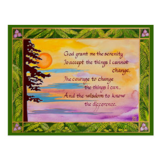 Serenity Prayer post card/note card