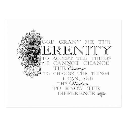 Serenity Prayer Post Cards