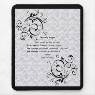 Serenity Prayer Poster Mouse Mat