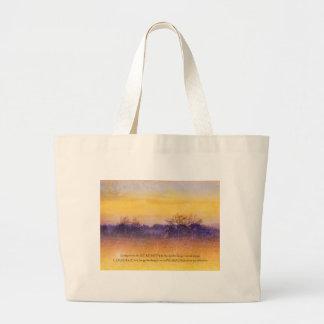 Serenity Prayer Purple Orange Field Canvas Bag