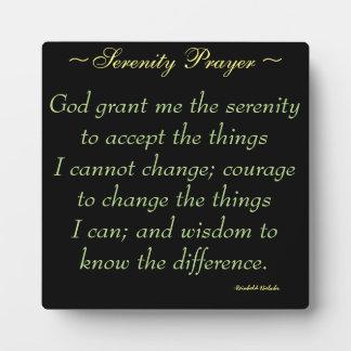 Serenity Prayer Quote Plaque