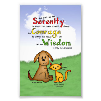 Serenity Prayer: Rehab & Detox, Strength/Recovery Art Photo