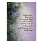 Serenity Prayer Rhododendrons and Creek Print
