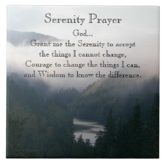 Serenity Prayer River Valley Photo Tile