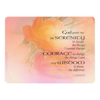 Serenity Prayer Rose Glow Card