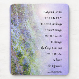 Serenity Prayer Rosemary Mouse Mat