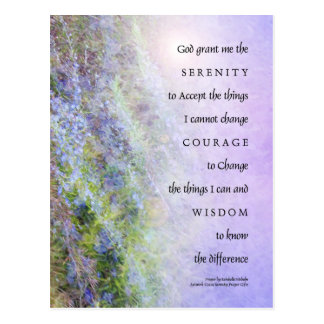 Serenity Prayer Rosemary Postcard