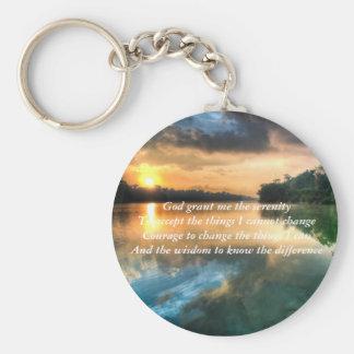 Serenity Prayer Scenic Keychain