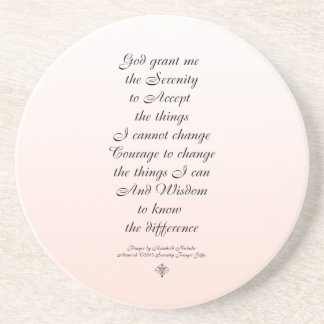Serenity Prayer Script Tiny Ornament One Coaster