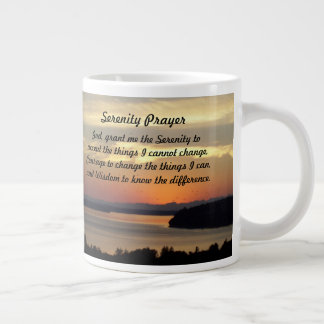 Serenity Prayer Seascape Sunset Photo Large Coffee Mug