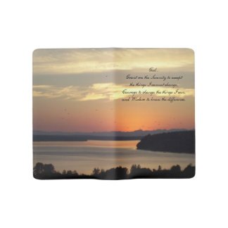 Serenity Prayer Seascape Sunset Photo Large Moleskine Notebook