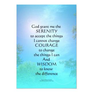 Serenity Prayer September Sky 13 Cm X 18 Cm Invitation Card