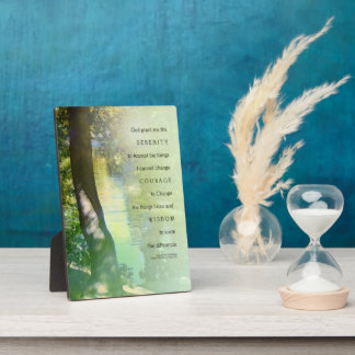 Serenity Prayer Serene Duck Pond Plaque