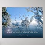Serenity Prayer Snow Scene Poster