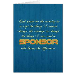 'Serenity Prayer/Sponsor' Funny Sobriety Card