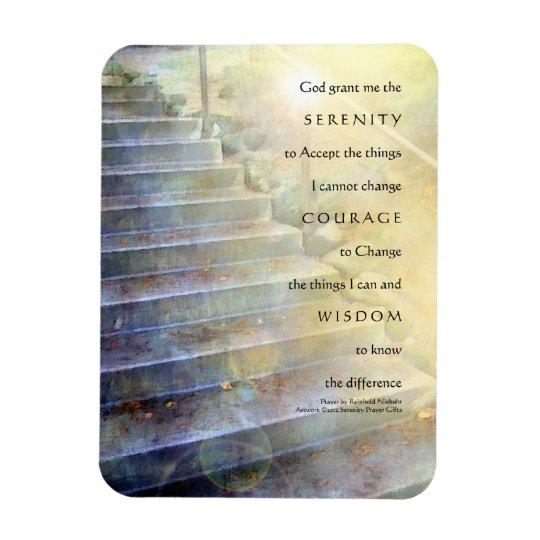 Serenity Prayer Steps Yellow Blue Premium Magnet