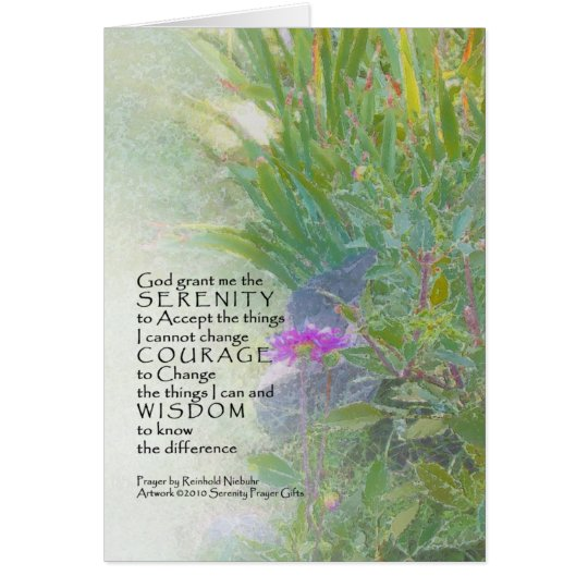 Serenity Prayer Summer Garden Card