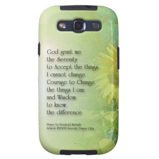 Serenity Prayer Sunflower 3 Galaxy SIII Cover