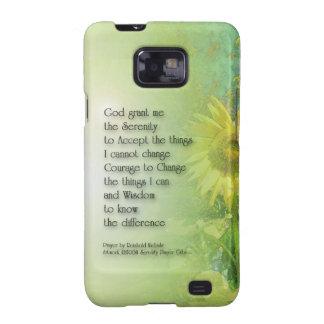 Serenity Prayer Sunflower 3 Samsung Galaxy S2 Case