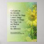 Serenity Prayer Sunflower 3 Poster
