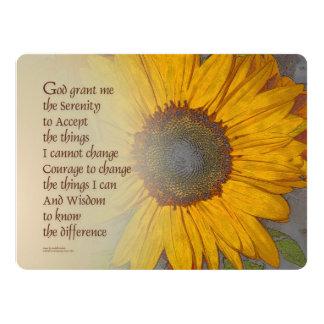 Serenity Prayer Sunflower Blend 17 Cm X 22 Cm Invitation Card