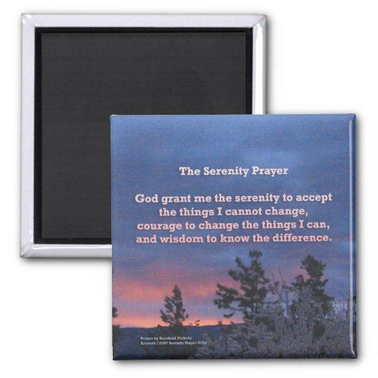 Serenity Prayer Sunrise Magnet