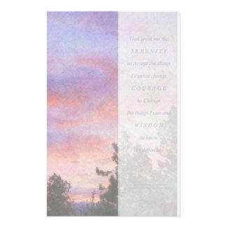 Serenity Prayer Sunrise Panel Stationery