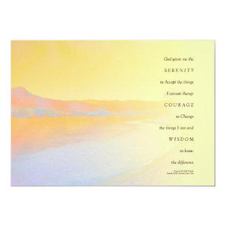 Serenity Prayer Sunset Lake Announcement