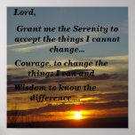 Serenity Prayer (sunset) Poster