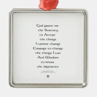 Serenity Prayer Tiny Ornament Celtic