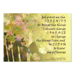 Serenity Prayer Tiny Roses and Fence Custom Invitation