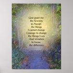 Serenity Prayer Tree Canopy Poster