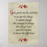 Serenity Prayer/Vintage Style