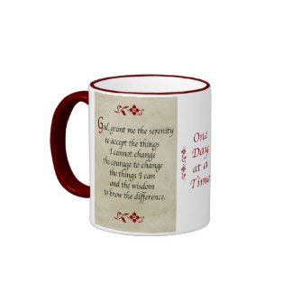 Serenity Prayer Vintage Style Coffee Mugs