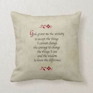 Serenity Prayer-Vintage Style Cushion