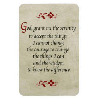Serenity Prayer Vintage Style Flexible Magnets