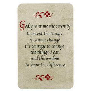 Serenity Prayer/Vintage Style Rectangular Photo Magnet