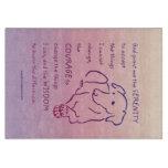 Serenity Prayer w/Dog Cutting Board