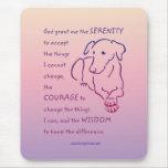 Serenity Prayer w/Dog Mouse Pad