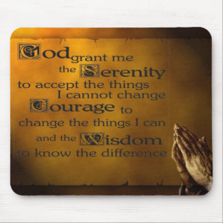 Serenity Prayer w/ Praying Hands Mouse Mat